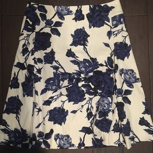 Floral a-line skirt with pockets